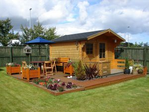 Man Cave Shed - outdoor space