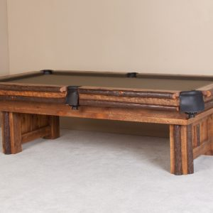 Sawtooth hickory pool table