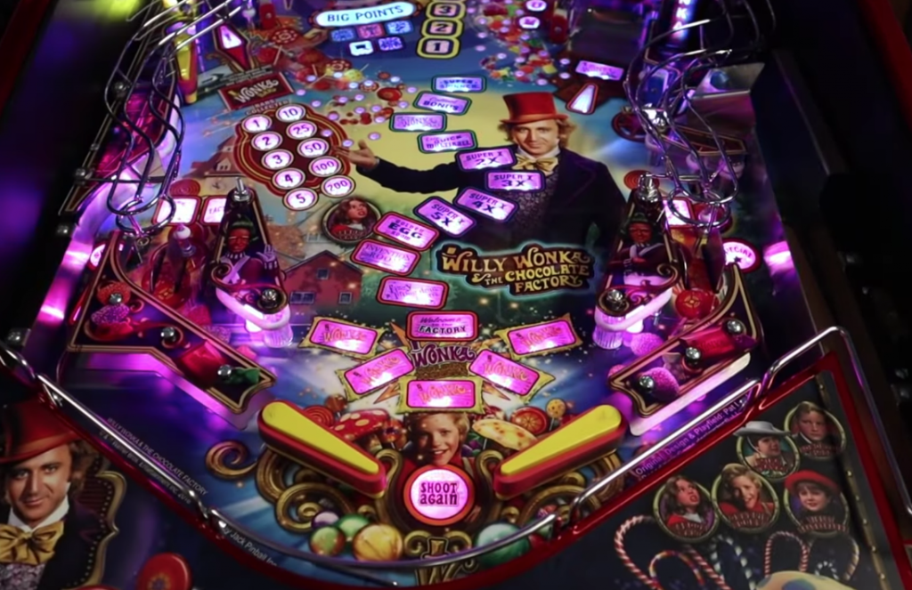 Willy Wonka Pinball Machine